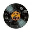 Zegar ścienny 43 cm Nextime All the Disco czarny 8183