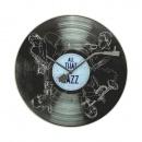 Zegar ścienny 43 cm Nextime All the Jazz czarny