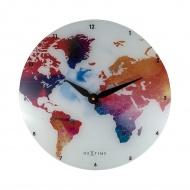 Zegar ścienny 43 cm Nextime Colorful World kolorowy