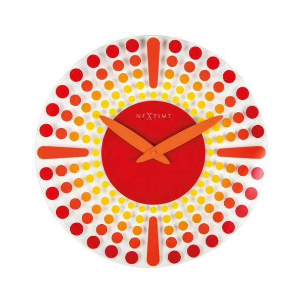 Zegar ścienny 43 cm NeXtime Dreamtime czerwony 8182RO