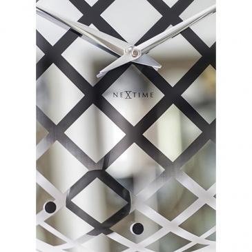 Zegar ścienny 43 cm Nextime Pendula Round srebrny