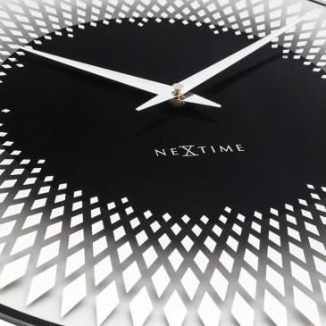 Zegar ścienny 43 cm Nextime Sahara srebrny