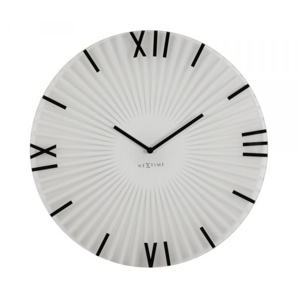Zegar ścienny 43 cm NeXtime Sticks biały 8175WI