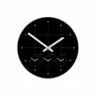 Zegar ścienny 43cm Nextime Big City czarny