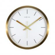 Zegar ścienny 44 cm Nextime Stripe biały