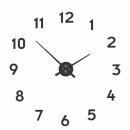 Zegar ścienny 48 cm Nextime Mini Hands czarny