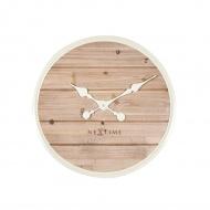 Zegar ścienny 50 cm NeXtime Plank biały