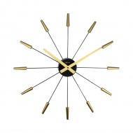 Zegar ścienny 58 cm Nextime Plug Inn złoty