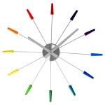 Zegar ścienny 60 cm NEXTIME Plug inn kolorowy