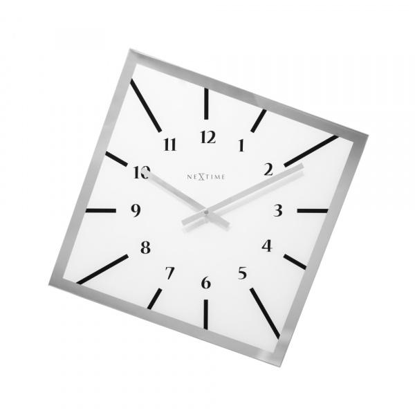 Zegar ścienny 61 cm NeXtime Off Balance biały 8176WI