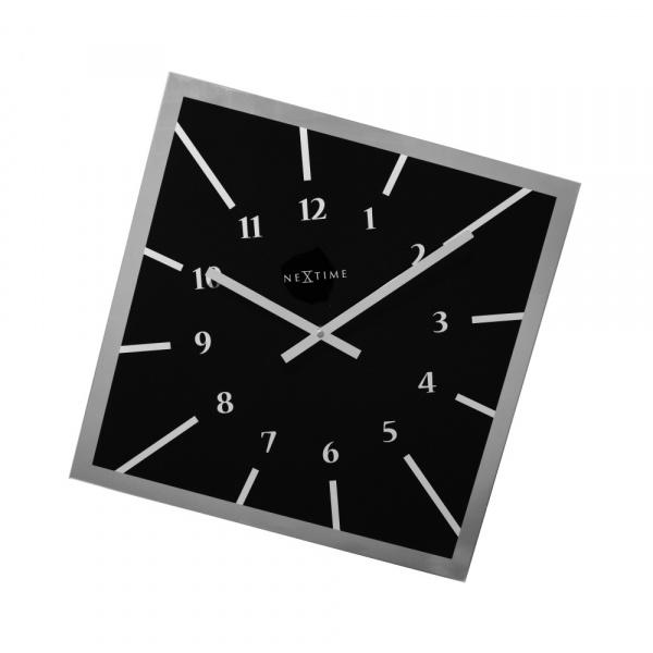 Zegar ścienny 61 cm NeXtime Off Balance czarny 8176ZW