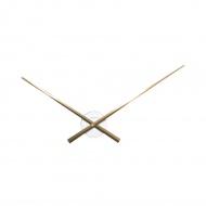 Zegar ścienny 70 cm Nextime Hands biało-miedziany