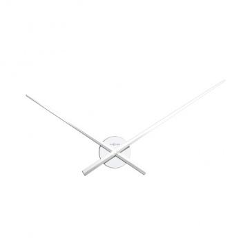 Zegar ścienny 70 cm Nextime Hands biały