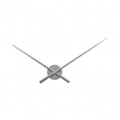 Zegar ścienny 70 cm Nextime Hands srebrny