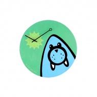 Zegar ścienny dla dzieci Nextime Wizky Walrus Green