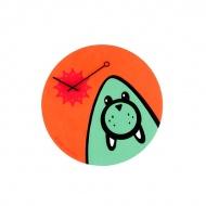 Zegar ścienny dla dzieci Nextime Wizky Walrus Orange