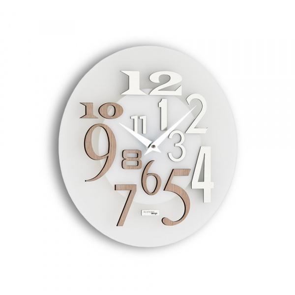 Zegar ścienny Incantesimo Design Free drewno bielone 036 S