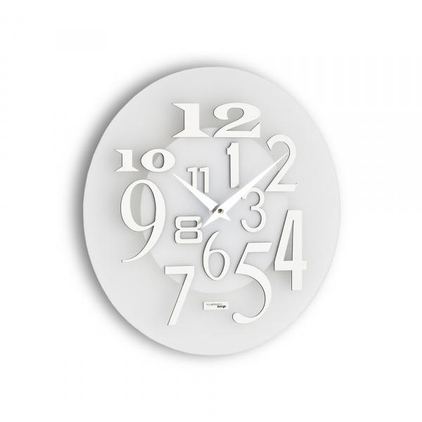 Zegar ścienny Incantesimo Design Free metalik biały 036 MB