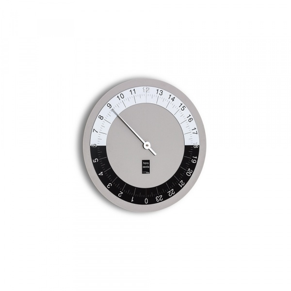 Zegar ścienny Incantesimo Design Hora Sexta szary 191 GR