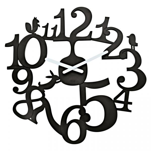 Zegar ścienny Koziol Pi:p czarny KZ-2327526