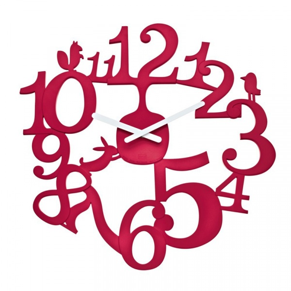 Zegar ścienny Koziol Pi:p malinowy KZ-2327583