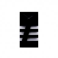Zegar ścienny NEXTIME Bold Stripes czarny
