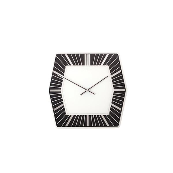 Zegar ścienny Nextime Hexagon czarny 8128ZW