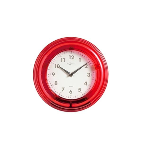 Zegar ścienny Nextime Wall clock Neon czerwony 2771RO
