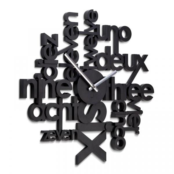 Zegar ścienny Umbra Lingua czarny 118990-040