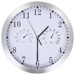 Zegar ścienny z higrometrem i termometrem, 30 cm, biały