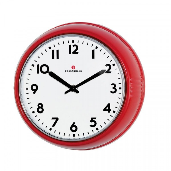 Zegar ścienny Zassenhaus Retro czerwony ZS-072723