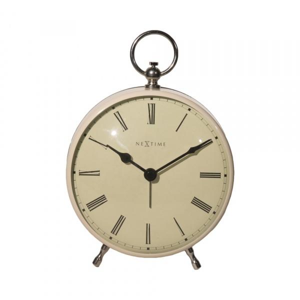 Zegar stojący 17,5 cm NeXtime Charles kremowy 5197CR