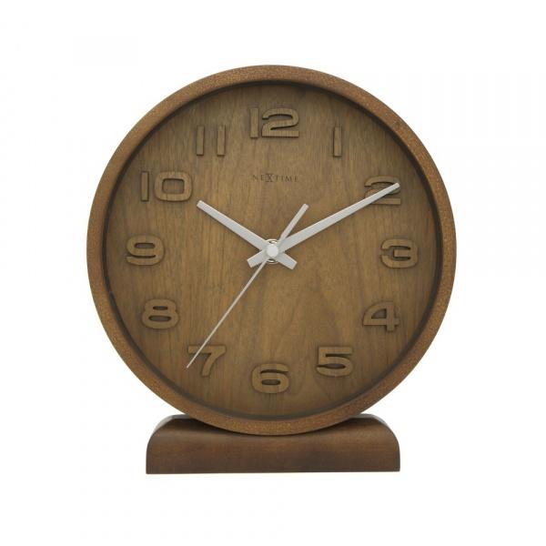 Zegar stojący 20 cm NeXtime Wood Wood Small brązowy 5192BR