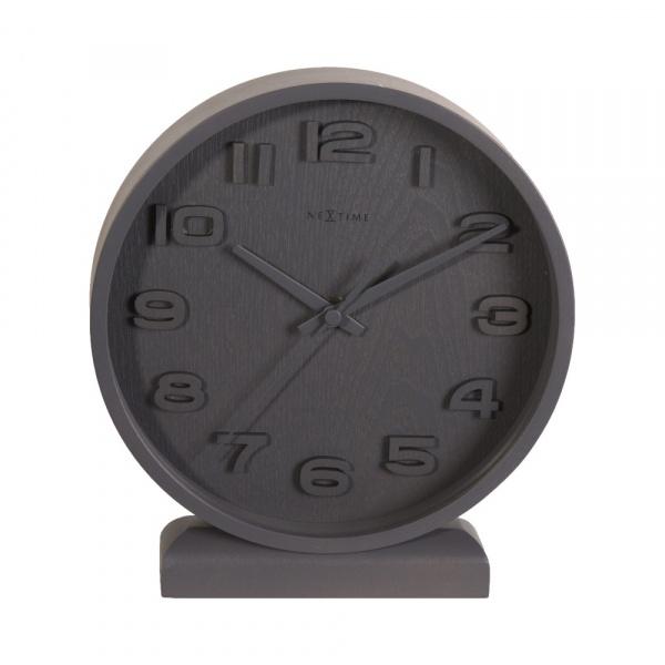Zegar stojący 20 cm NeXtime Wood Wood Small szary 5192GS