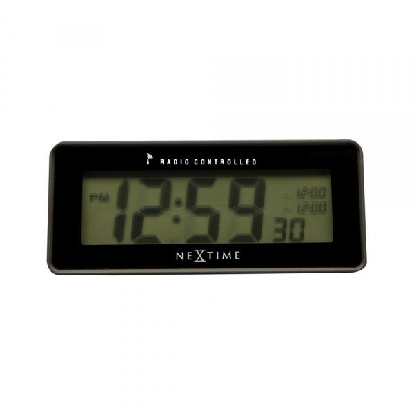 Zegar stojący 6 x 14 cm NeXtime Lean Alarm Radiocontrolled czarny 5203ZW