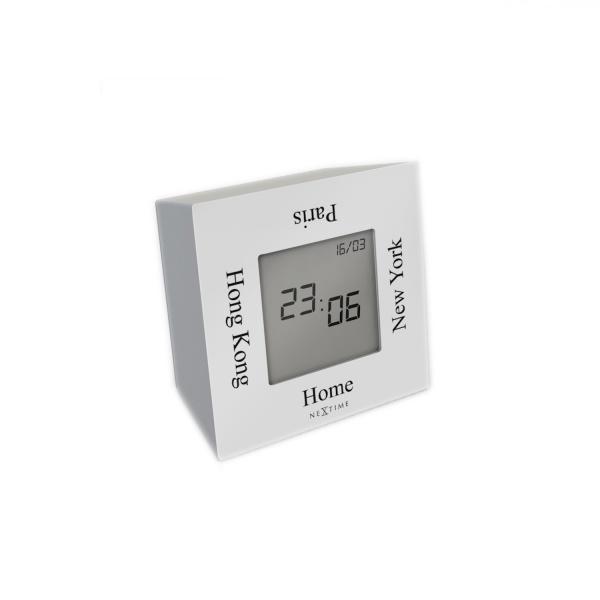Zegar stojący 7,4 cm NeXtime Turn4Time biały 5190WI