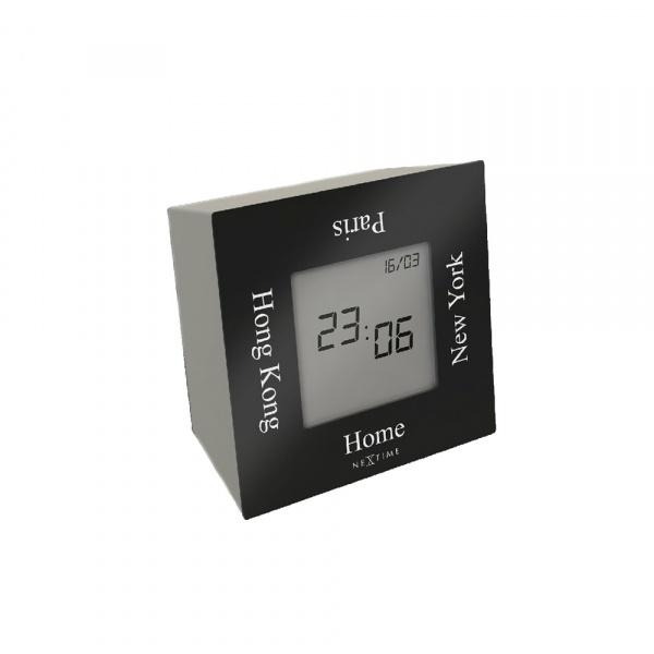 Zegar stojący 7,4 cm NeXtime Turn4Time czarny 5190ZW