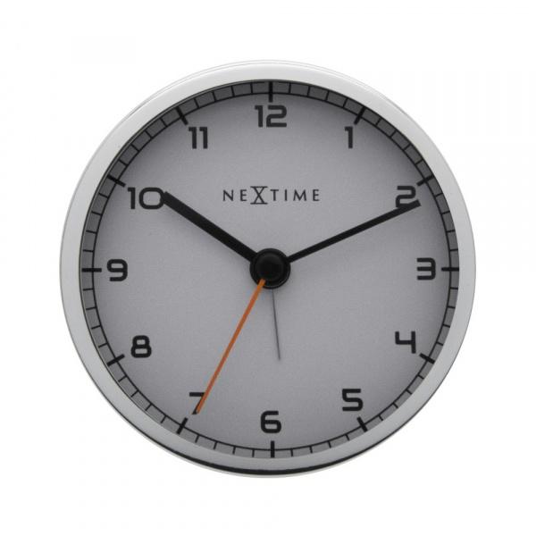 Zegar stojący 9 cm Nextime Company Alarm biały 5194ZW