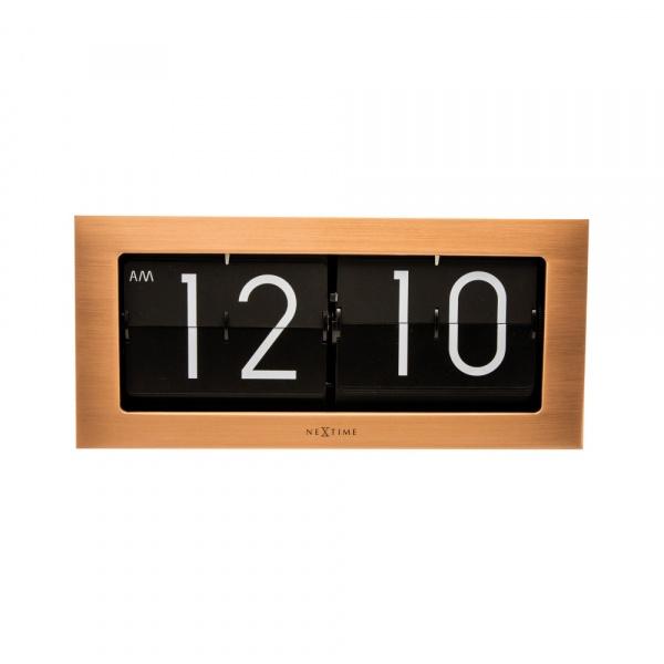 Zegar stojący Nextime Big Flip miedziany 5198CO