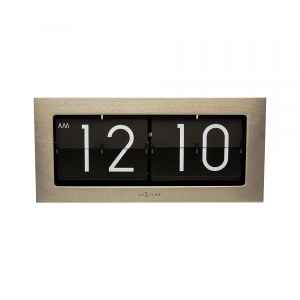 Zegar stojący Nextime Big Flip srebrny 5198ZI
