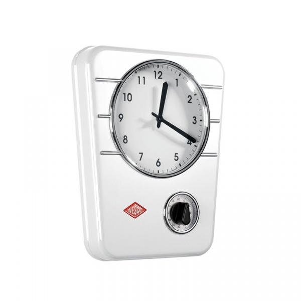 Zegar z timerem Wesco biały W-322401-01