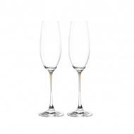 Zest. 2 kieliszków do szampana Leonardo La Perla przezroczysty/brąz