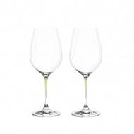 Zest. 2 kieliszków do wina Leonardo La Perla przezroczysty/zieleń
