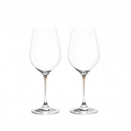 Zest. 2 kieliszków do wina Leonardo La Perla przezroczysty/brąz