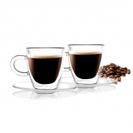 Zestaw 2 filiżanek do espresso z podwójną ścianką Amo 50 ml 23055