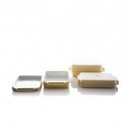 Zestaw 2 małych naczyń żaroodpornych 24,5cm JIA Inc. żółty
