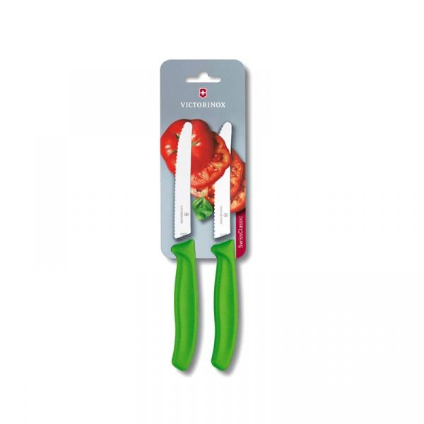 Zestaw 2 noży do pomidorów Victorinox zielony 6.7836.L114B