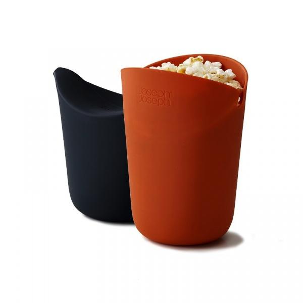 Zestaw 2 pojemników do popcornu Joseph Joseph M-Cuisine™,  pomarańczowy i szary, 45018