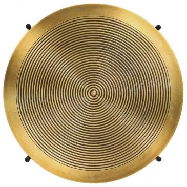 Zestaw 2 stolików, płyta MDF pokryta mosiądzem