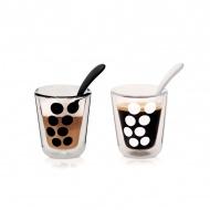 Zestaw 2 szklanek termicznych 200 ml z łyżeczkami Zak! Designs Dot
